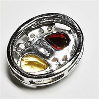 Silver Citrine(1.6ct)  Necklace (BK06-107)   (D2)