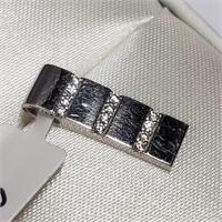 10K White Gold Cubic Zirconia  Pendant (BK06-118)