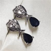 Silver Onyx  Earrings (BK06-126)   (D2)