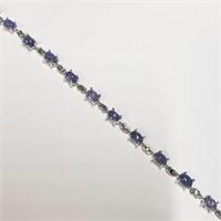 Silver Tanzanite(8ct)  Bracelet (~length