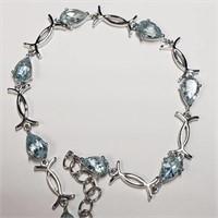 "Silver Top  Bracelet (~length 8"" Flexible"