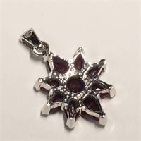 Silver Ruby(2ct)  Necklace (BK06-138)   (D2)