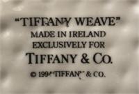 169 - TIFFANY & CO TIFFANY WEAVE SQUARE BOWL
