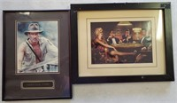 PAIR OF FRAMED PHOTOS, HARRISON FORD & FRIENDS