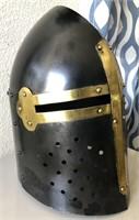 169 - BLACK & GOLD KNIGHT HELMET
