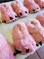 169 - SET OF 6 PINK BEAR CLAW SLIPPERS