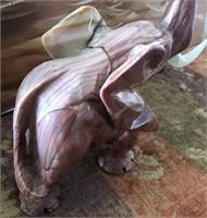 169 - BEAUTIFUL STONE CARVED ELEPHANT