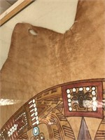 169 - LEATHER AZTEC FRAMED ART