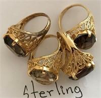 169 - SET OF 4 STERLING RINGS