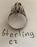 169 - BEAUTIFUL STERLING CZ RING