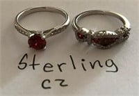 169 - SET OF 2 STERLING CZ RINGS