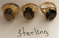 169 - TRIO OF STERLING RINGS