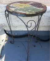169 - OUTDOOR PLANTER & MOSAIC TABLE