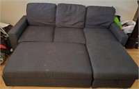 169 - NICE COUCH W/ CHAISE