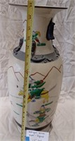 "D - ANTIQUE ASIAN VASE - SIGNED 23"" TALL"