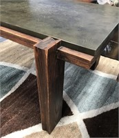 MID CENTURY CUSTOM MADE WOOD END TABLE WITH