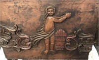 RARE VINTAGE EUROPEAN FULL SIZE HAND CARVED WOOD