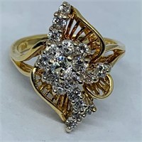 14KT YELLOW GOLD .78CTS DIAMOND RING