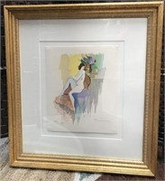 BEAUTIFUL SERIGRAPH IN COLOR PAINTING WOVE PAPER