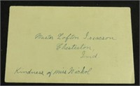 Laura Ingalls Wilder Letter Auction Ends on Sept. 16 at 9am