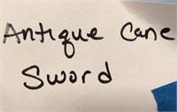 D - ANTIQUE CANE SWORD