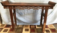D - 1800'S ANTIQUE ASIAN WOOD CONSOLE TABLE HAND