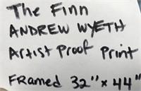 THE FINN ANDREW WYETH ARTIST PROOF PRINT FRAMED
