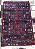 "ANTIQUE HAND KNOTTED ORIENTAL RUG 38"" X 60"""