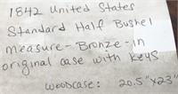 1842 UNITED STATES STANDARD HALF BUSHEL MEASURE