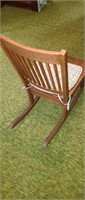Mission style sewing rocking chair