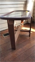 Glass top side table