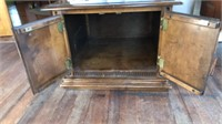 End table with cabinet