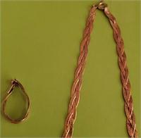 169 - STERLING NECKLACE, BRACELET & EARRING SET