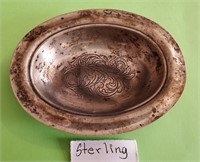 169 - STERLING ETCHED BOWL