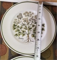 TIFFANY & CO. HERBS PLATE SET MADE IN ENGLAND