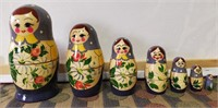 HAND MADE IN RUSSIA NESTING DOLLS