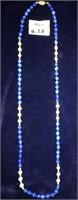 169 - 14 KT GOLD BEADED NECKLACE