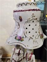 169 - BEAUTIFUL PORCELAIN LAMP & FIGURINE