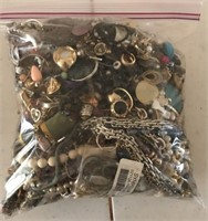169 - BAG OF COSTUME JEWELRY - (A) 7.5 LB