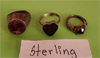 169 - SET OF 3 STERLING RINGS