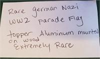 RARE GERMAN  WW2 PARADE FLAG TOPPER