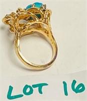 CUSTOM DESIGN 14 KT GOLD, DIAMOND & KINGMAN