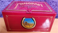 ANTIQUE PAINTED STRONG BOX WITH TONOPAH EXTENSION