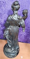 ANTIQUE BRONZE STATUE OF WOMAN WITH CHILDREN