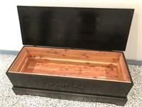 Custom Made Wooden Trunk/Bench