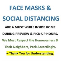 PLEASE WEAR MASKS & MAINTAIN SOCIAL DISTANCING