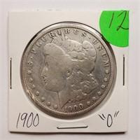 """1900 """"O"""" - MORGAN SILVER DOLLAR (12)"""
