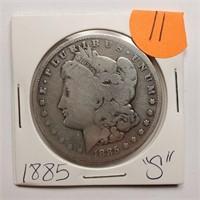 "1885 ""S"" - MORGAN SILVER DOLLAR (11)"