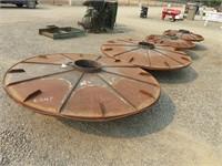 Set of (4) Steel Wheels