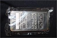 10 troy ounces .999 fine silver bar